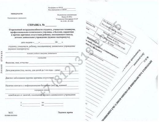 Справка для академического отпуска с подтверждением в Санкт-Петербурге