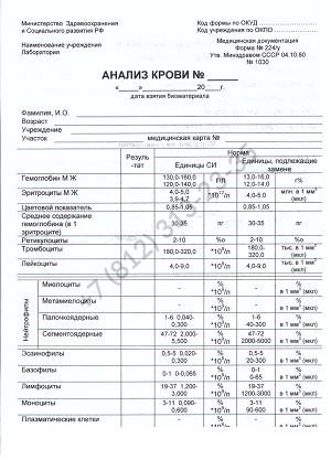 Общий анализ крови 224 у - купить в Спб по выгодной цене